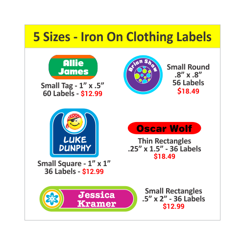 Iron on fabric labels customized clothing labels for Iron on shirt labels