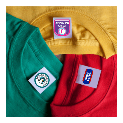 self adhesive clothing labels custom brand woven shoe